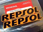 2X HONDA GENUINE REPSOL 94X16 mm STICKER DECAL PLATE EMBLEM WING B