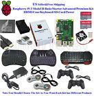 US Raspberry Pi 3 Model B Basic Starter Advanced Premium Kit HDMI Case Keyboard