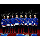 New York Rangers - 8 Legends Multi Signed 16x20 Photo - LE of 500 - Steiner COA
