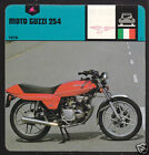 1978 MOTO GUZZI 254 Motorcycle PICTURE AUTO RALLY CARD