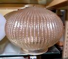 Vintage AMBER Ribbed GLASS Light Replacement GLoBe GLASSWARE 325 Hall NEW 5377