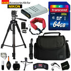 64GB ACCESSORIES Kit for NIKON CoolPix B700 w 64GB Memory + Battery +Case +MOR