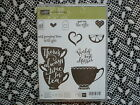 Stampin Up  A Nice Cuppa Clear Photopolymer Stamp Set 11 Stamps NIP