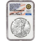 2017 W American Silver Eagle NGC MS70 First Day of Issue Standish