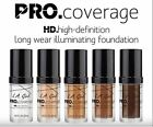 LA LA Girl HD Pro Coverage Illuminating Foundation Long Wear Paraben Free
