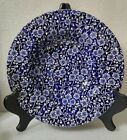 ONE (1) Queen's - Calico Blue - Rim Soup Bowl - Made in Malaysia - Blue Chintz