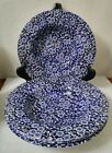 FOUR (4) Queen's - Calico Blue - Rim Soup Bowl - Made in Malaysia - Blue Chintz