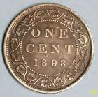 CANADA LARGE CENT 1898 H VERY FINE BRONZE COIN