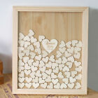 DIY 100pcs Rustic Wood Wooden Love Heart Wedding Table Scatter Decoration Crafts