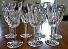WATERFORD CUT CRYSTAL CORDIAL GOBLETS Lismore Pattern Set of 7