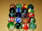 Vintage Marbles Group Of 20. Marble King / Vitro / Alley Agate /