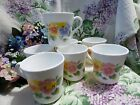 Corning Corelle Summer Blush Pansy Coffee/Tea Cups/Mugs set of 7 USA
