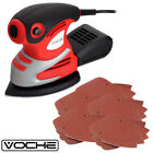 200W ELECTRIC TRI-PALM DETAIL SANDER + 25 SANDING SHEETS + DUST COLLECTION BOX