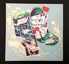 Mailbox Gifts Letters Packages Vintage Mid-Century Card UNUSED Christmas Stars