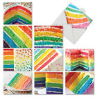 M6565TYG Rainbow Cakes 10 Assorted Thank You Note Cards With White Envelopes