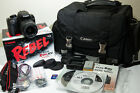 Canon EOS Rebel XS 1000D DSLR Black w Kit EF S 18 55mm Lens 101 MP++MORE