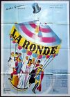 R70s LA RONDE Max Ophuls Carousel artwork 47x63 french movie poster