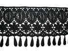 4 Black Embroidereed Venice Lace Trim Fringe DIY Sewing Notions Crafts By Yard