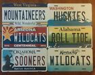 NCAA College Team State Background Metal License Plate Tag Made In The USA