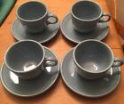 Set of 4 Blue Cup & Saucer Fiestaware