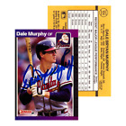 Dale Murphy Autographed Signed 1988 Donruss #104 Atlanta Braves Baseball Card