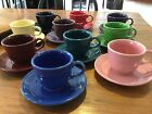 Fiestaware cups and saucers (9 assorted) Mint condition