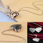 New 925 Sterling Silver Locket Heart Photo Pendant Necklace Women Silver Gold