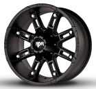 4 NEW RDR RD06 Thunder 17x9 6x135 6x1397 +0mm Satin Black Wheels Rims