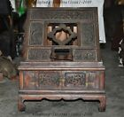 Rare Ancient Chinese Huanghuali Wood Hand-Carved Dragon table bookshelf cabinet