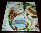 FITZ and FLOYD KRISTMAS KITTY CAT CHRISTMAS CANAPE' PLATE 9 1/2