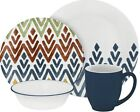 Corelle Vive Zamba 16-Piece Dinnerware Set Service for 4 NEW 2DAY SHIP