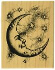 Inkadinkado Mounted Rubber Stamp Crescent Moon 25X2