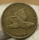 1857 Flying Eagle Very Fine Penny 14