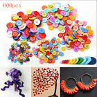 600Pcs Mixed Color 4 holes Buttons Sewing Craft Scrapbooking DIY Amazing