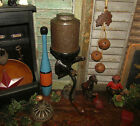 Primitive Antique Vtg Cast Iron Royal Coffee Grinder Tin Canister Can Mill