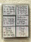 DOTS Rubber Stamp Set 6 Pc Foam Mounted Heartfelt Thanks