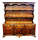 Antique Cupboard Hutch China Display Cabinet Breakfront Bookcase Buffet Chest
