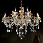 Candle Style Golden Teak Crystal Penant Chandelier 6/8/15 Light Ceiling Fixture