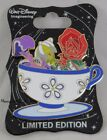 WDI Disney Disneyland D23 Mad Tea Party Golden Afternoon Rose Teacup Pin LE 250
