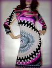 EMiLiO PUCCi VtG 60s HOLLYWOOD MOD Retro PSYCHEDELIC Op Art SPACE AGE Dress 10 M