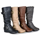 Journee Collection Womens Wide and Extra Wide Calf Slouch Knee High Riding Boot