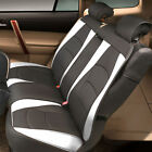 Car SUV Truck PU Leather Seat Cushion Covers Rear Bench Cover Solid Black