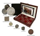 8 Authentic Byzantine Medieval Era Coins 600s to 1600s Collector Box Set