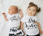 US STOCK Toddler Kid Baby Boy Brother Romper Girl Sister Matching T shirt Tops b