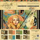 Double Sided Paper Pad 8X8 24 Pkg Vintage Hollywood 8 Designs 3 Each