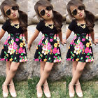 Toddler Baby Girls Top T Shirt +Floral Dress Skirt Kids Clothes Outfits US Stock