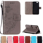 Retro Embossed Patterned Wallet Flip PU Leather Strap Stand Card Soft Case Cover