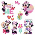 9 Minnie Mouse Happy Helpers Wall Decals + 3 D Bow Accents Girls Disney Stickers