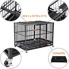 48 Heavy Duty Dog Cage Crate Kennel Metal Pet Playpen Portable w Tray New