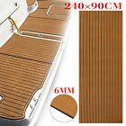 Marine Flooring Faux Teak EVA Foam Boat Decking Sheet Brown 91x354x024